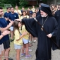 """Ентузијастички пречек на Архиепископ Елпидофор во детскиот камп """"Св. Павле"""""""