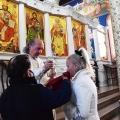 Божествена Литургија во храмот Рождество на Пресвета Богородица, Скопје (15.01.2021)